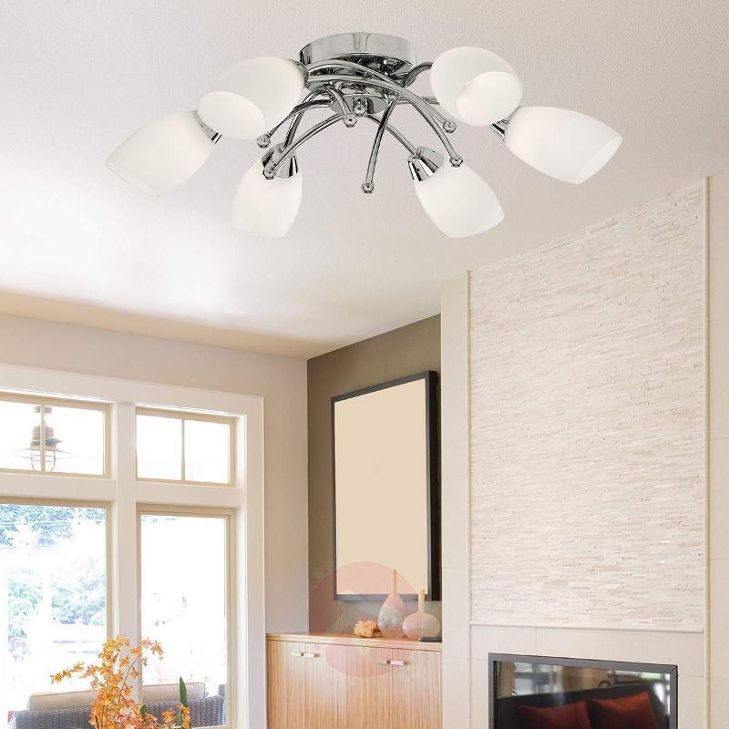 Beautiful Opera ceiling light, 6-bulb, chrome - Ceiling Lights