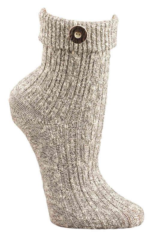 """2195 - Country Socks """"Button"""" - 10-gage. Hand linked. Real heal. Fits the current country-fashion. For everybody"""
