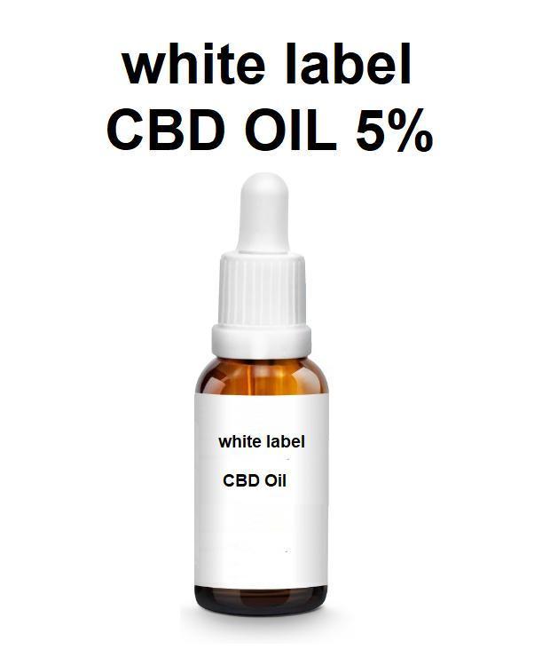etichetta bianca Olio di CBD 5% - Olio di CBD 5% etichetta bianca - MCT - canapa - spettro completo