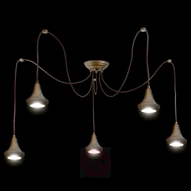 Flexible hanging light Abbe - 5-bulb - indoor-lighting