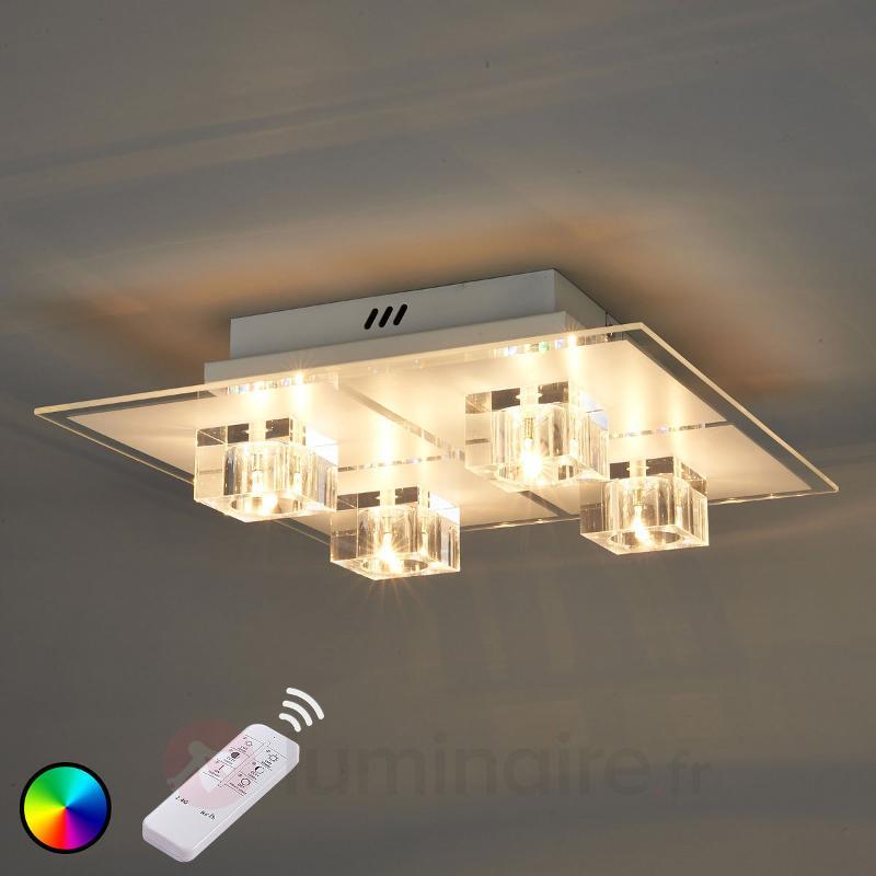 Plafonnier LED Artjom RVB à quatre lampes - Plafonniers LED