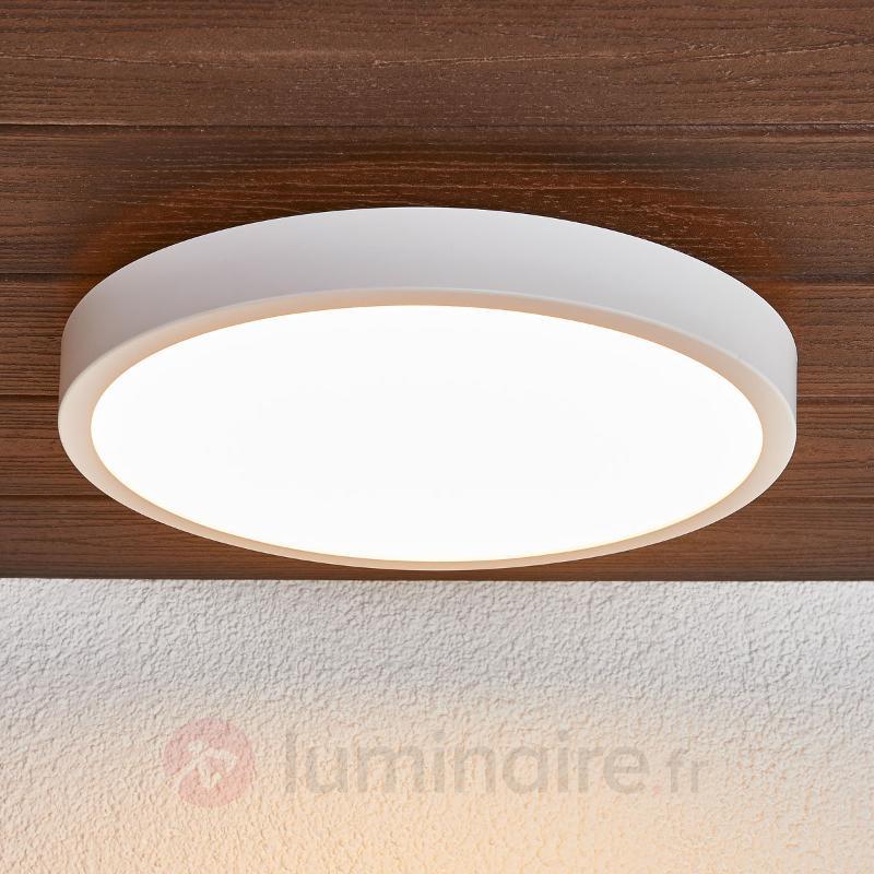 Plafonnier LED rond Liyan en blanc - Salle de bains