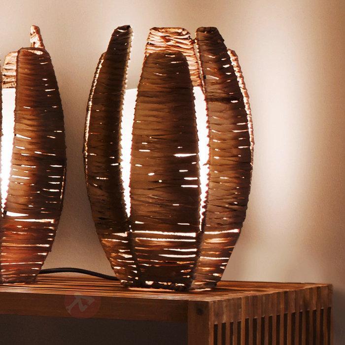 Lampe à poser naturelle MONGU - Lampes à poser en bois