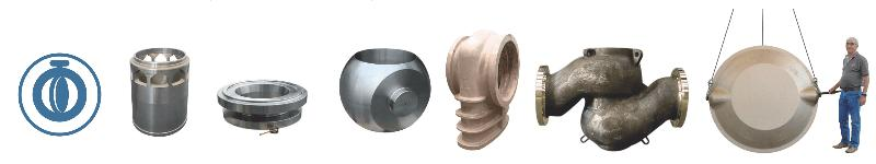 Housing, gate for butterfly valves, valves body, flange... - Rough or fully machined centrifugal & sand castings for butterfly & ball valves
