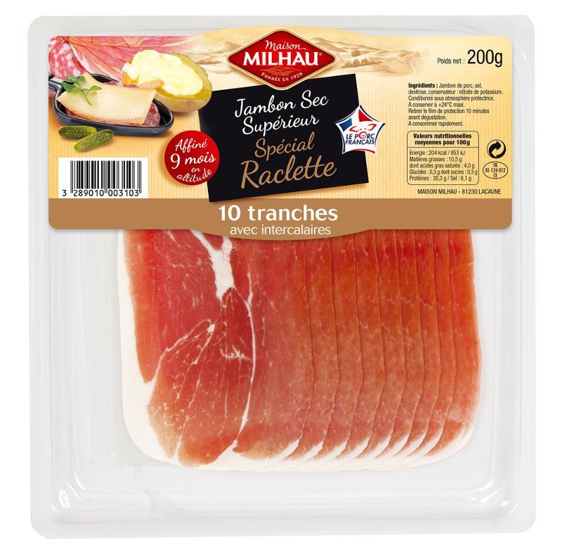Jambon Sec Supérieur 9 mois Spécial Raclette - Viande et volailles