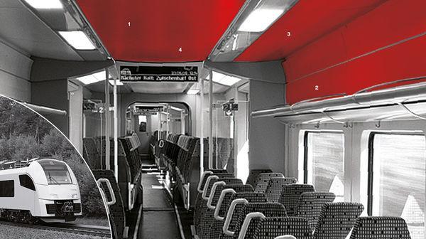 Interior Deck System For Train - Interior deck system based on pultruded glassfibre profiles