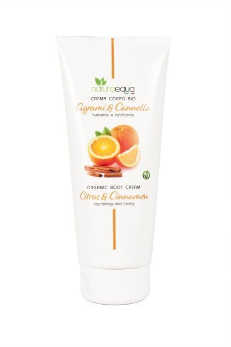 Crema corpo agrumi e cannella 200ml - E' un'emulsione ricca e cremosa, che avvolge il corpo con una carezza