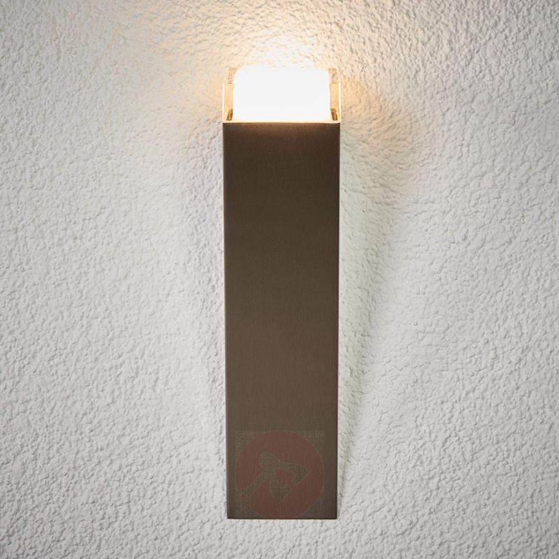 Stainless steel Tabo-LED outdoor wall light - stainless-steel-outdoor-wall-lights