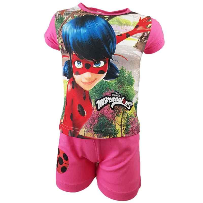 Wholesaler set of clothes kids licenced Miraculous - Summer Set