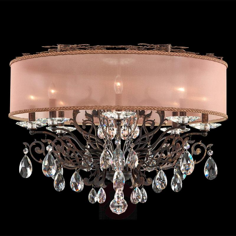 Bronze-coloured crystal ceiling light Filigrae - design-hotel-lighting