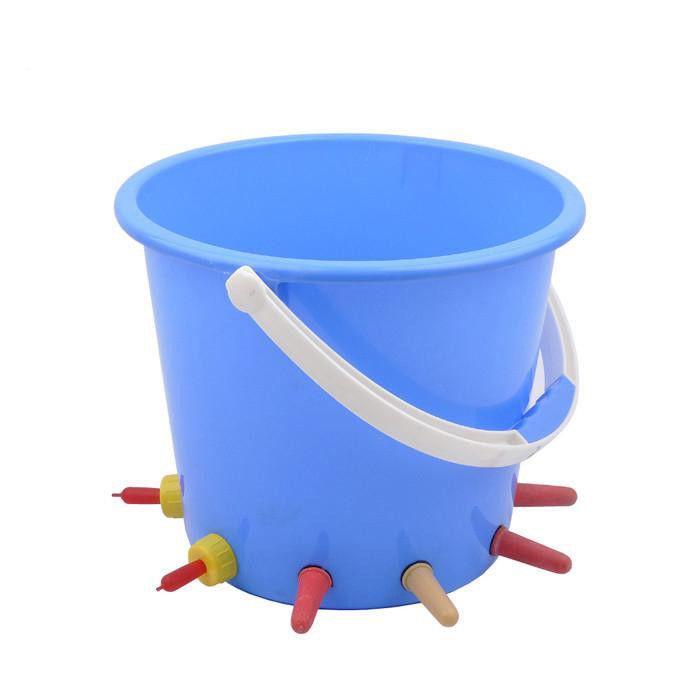 8L Plastic Calf /cattle Feeding/milk Bucket with 10 teats - animal feeding bucket for cow with teat milk bucket