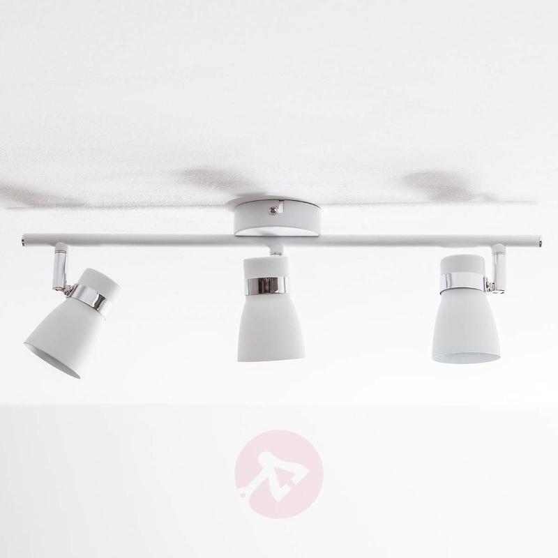 3-light Arjen LED ceiling light, white - Ceiling Lights