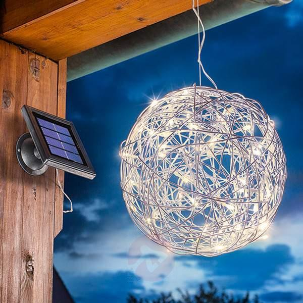 Warm white LED solar light Alu-Wireball - Decorative Solar Lights