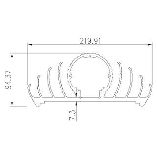 LED lamp profiles - LED-220X94.5A
