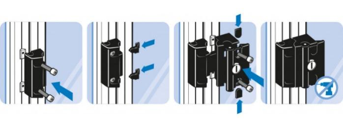Latch lock PROe with safety function - Door handle for electronic securing safety doors and flaps bist Cat. 4 / PLe