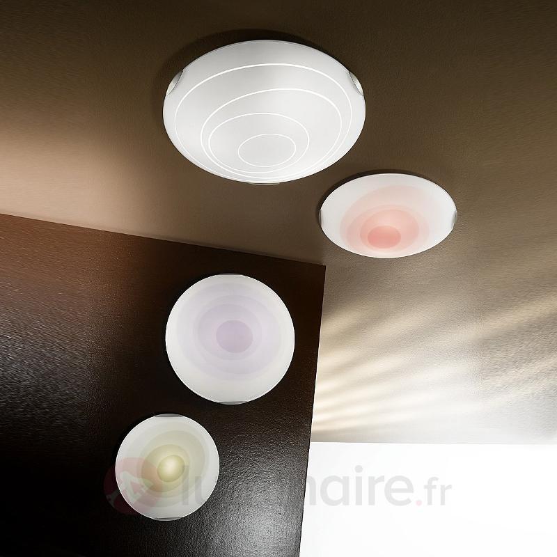 Plafonnier rond KENT blanc - Chambre à coucher