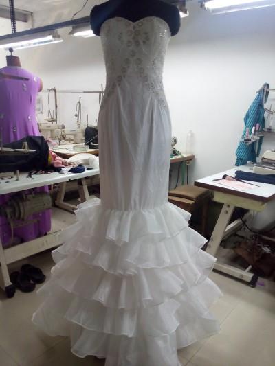Robe de mariée - Robe de mariée sirène à volants