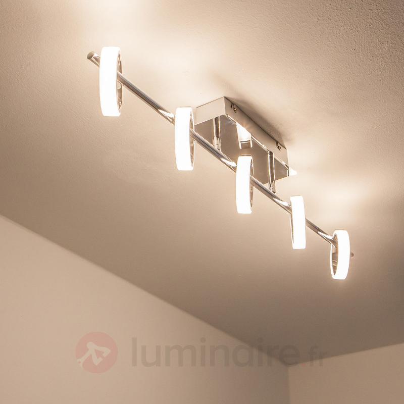 Plafonnier LED Luciano avec anneaux lumineux - Plafonniers LED