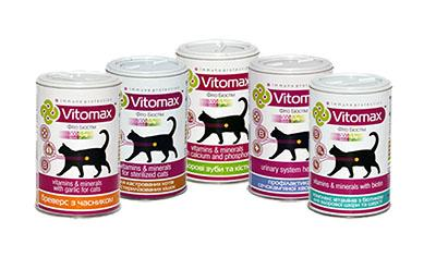 Витаминные комплексы Vitomax для котов