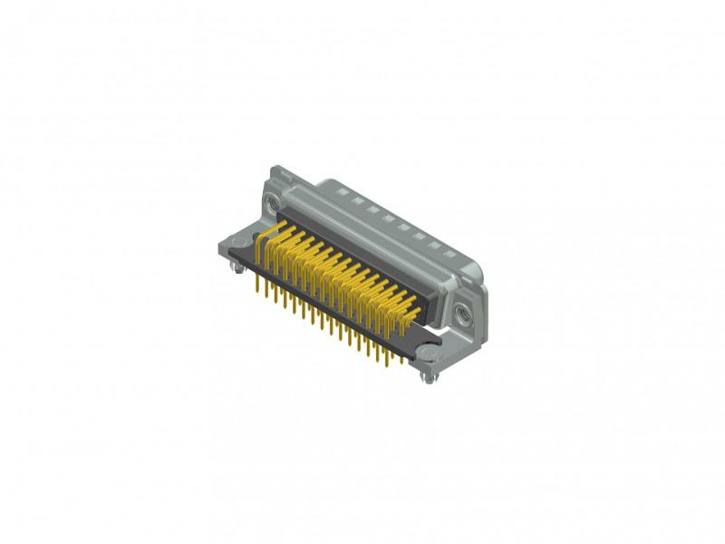 D-SUB High Density connector - D-SUB High Density connector, 44-pos.,  plug, solder cup, through hole