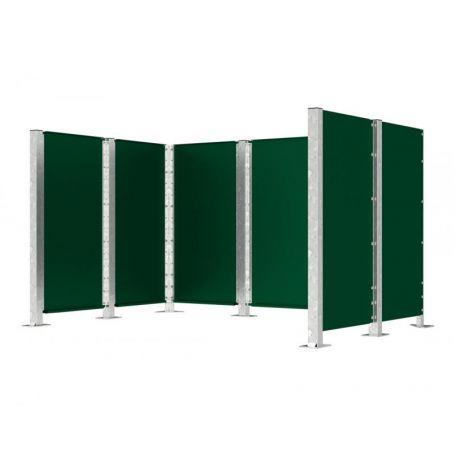 Cache Conteneur Modulable En Acier - Espaces Verts