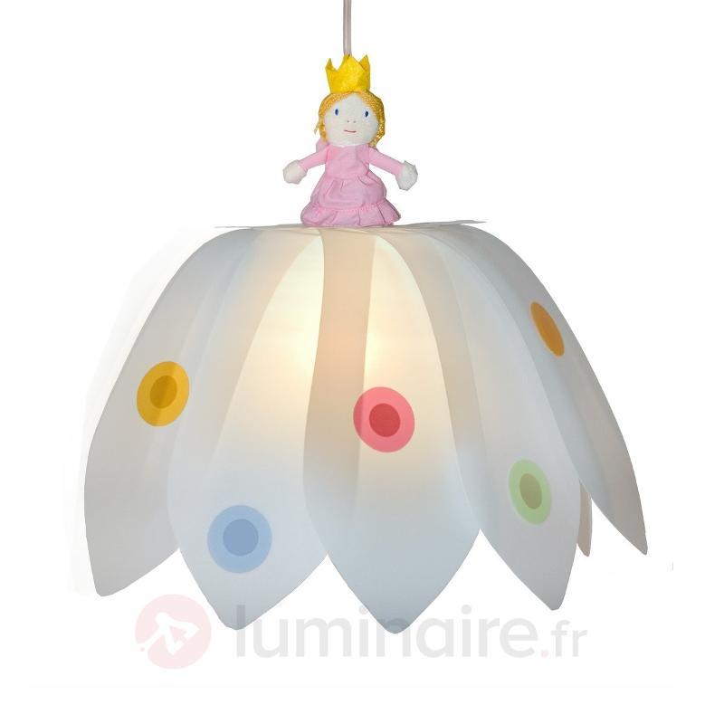 Magnifique suspension Fleur et Princesse - Chambre d'enfant