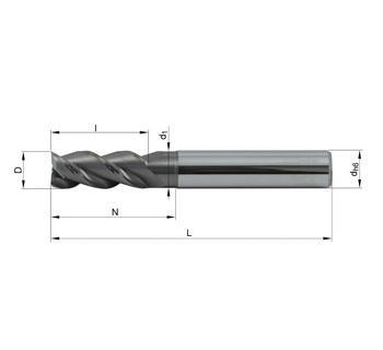 Vollhartmetallfräser VHM 382-02 TN12 - null