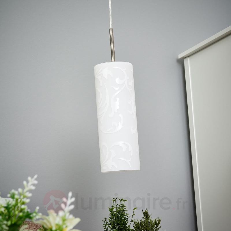 Amanda - une suspension artistique, 1 ampoule - Suspensions en verre