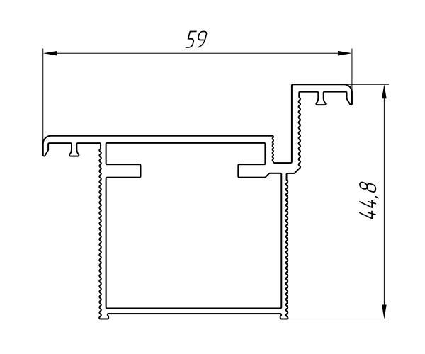 Aluminum Profile For Doors Ат-6389 - Interior aluminum profile