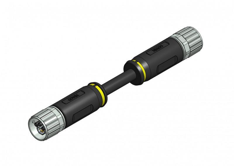 B17 Hybrid Steckverbinder umspritzt - CONEC Hybridsteckverbinder umspritzt Baugröße B17