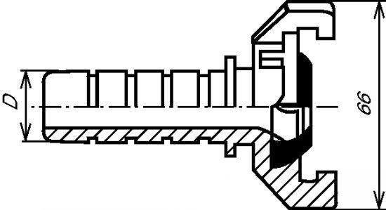 DEMI-RACCORD EXPRESSÀ DOUILLE  - ANNELÉE INOX 316 (5545)