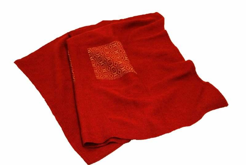 100% Alpaca Handmade Lap Blanket - 19T101M -
