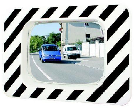 Miroir Réglementaire D'agglomérations Cadre Noir Et Blanc - Sécurité Routière