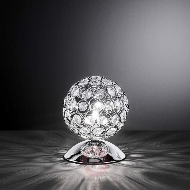 Glittery table lamp Holly with glass stones - Table Lamps