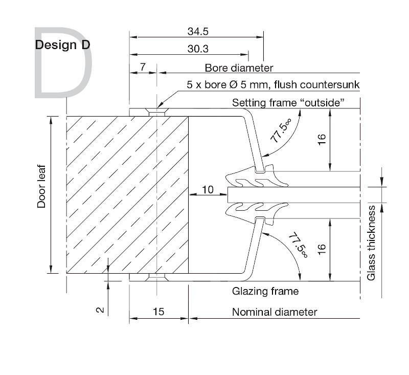 Aluminium Porthole Design D -