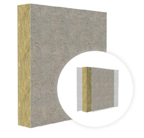 Light-weight fireproof rockwool board FireCore - Construction core of rock wool and inorganic impregnation matrix