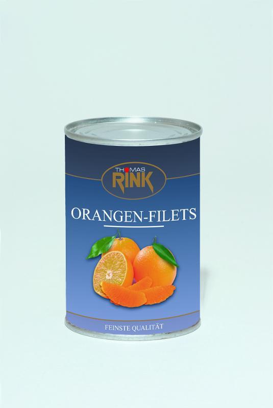 Orangen-Filets, 425 ml, leicht gezuckert - null
