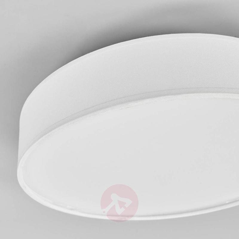 White LED fabric ceiling lamp Saira - Ceiling Lights
