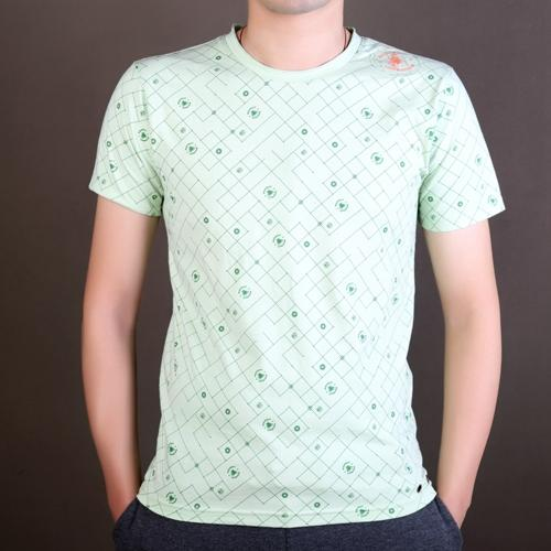 Fashion custom full printing men's t-shirt with eyelets
