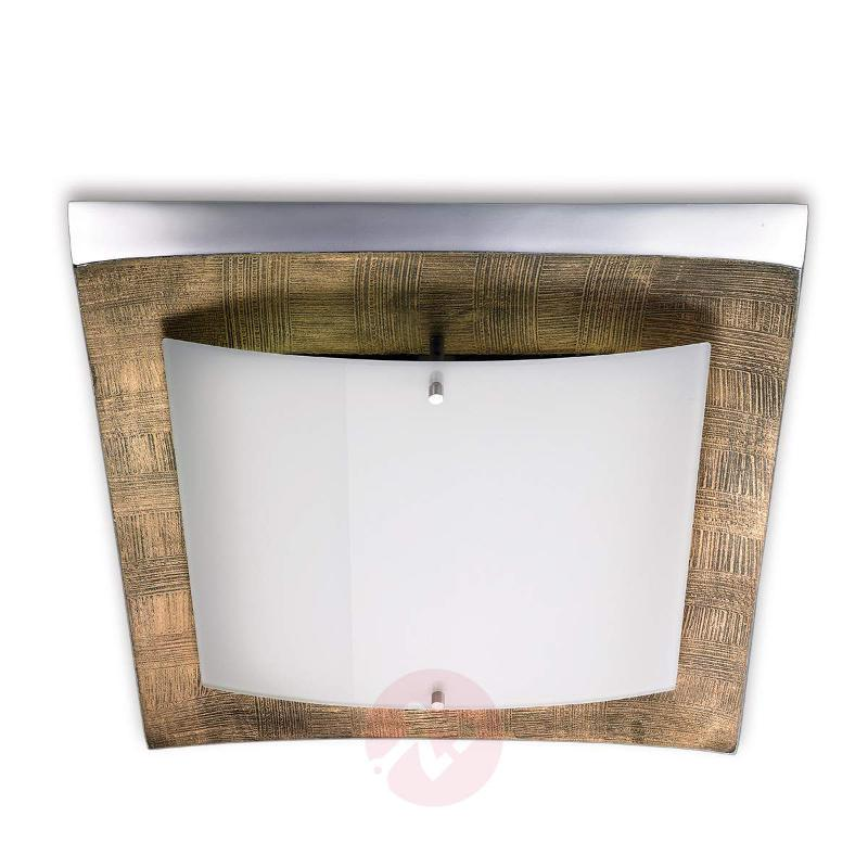 LED ceiling light Maren, décor gold - Ceiling Lights