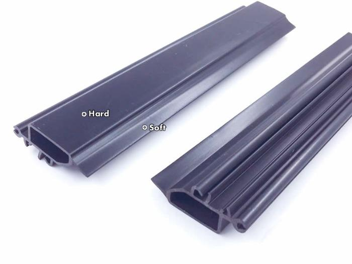 Co-extrusion Plastic Profiles - Custom Co-extrison profiles in 2 colors, soft and hard,2 different materials