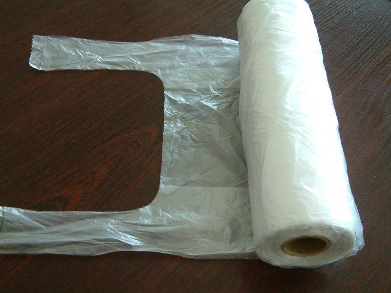 Tasche Knotenbeutel HDPE, Hemdchentragetaschen auf Rolle - Handelskette