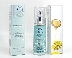 Natural anti-aging Argan Serum - Serum 8 with botanical extracts for the face, décolleté and eye area