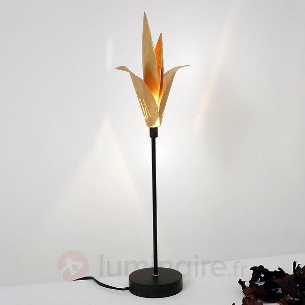 Lampe à poser AIRONE à fleur doré - Lampes à poser pour rebord de fenêtre