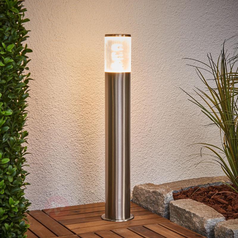 Luminaire pour socle Belen en inox avec LED - Luminaires pour socle LED