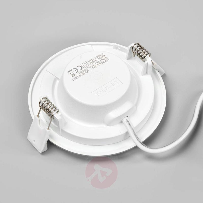 Silver LED recessed light Joki, round - indoor-lighting