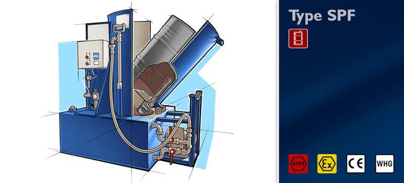Washing machine type SPF - Bung barrels