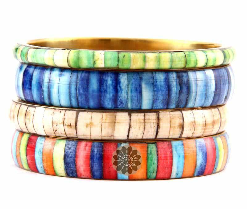 Fancy Multicolor Bangle Stack -