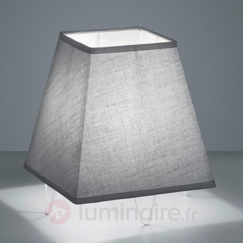 Lampe à poser textile moderne Zing - Lampes à poser en tissu