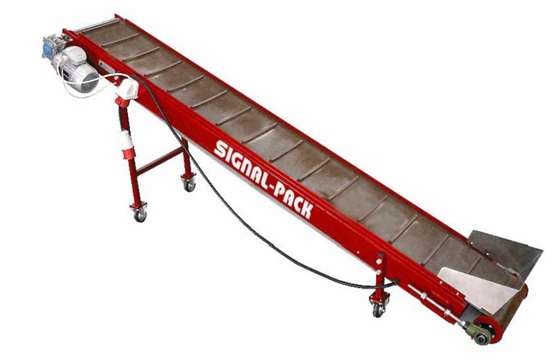 Take-away conveyor KUP-2 - CONVEYING SYSTEMS FOR PROCESSING AND PACKAGING OF VEGETABLES AND FRUIT